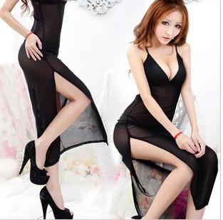 women's Sexy lingerie, pajamas, transparent gossamer suit, maxiskit, free shipping, BRA0007
