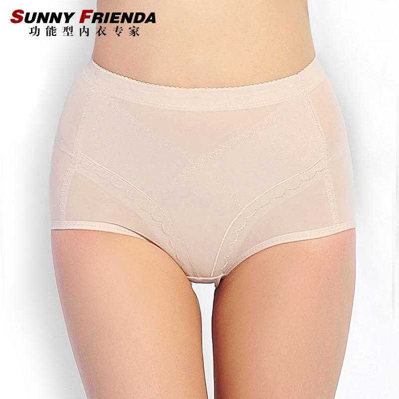 Women's ultra-thin mid waist abdomen panties basic drawing butt-lifting body shaping pants corset pants slimming pants 2669