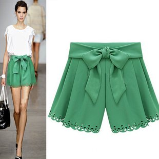 Women's Western Popular Fashion Pantskirt Shorts with Bow Free shipping 8451