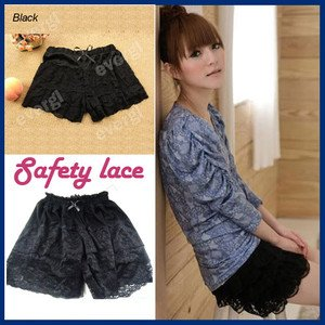 Women Safety Lace Shorts Trousers Leggings Pants Shorts hot