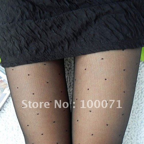 Women Sexy With Dot Patterns Pantyhose Tights Stockings 02  [20800|01|01]