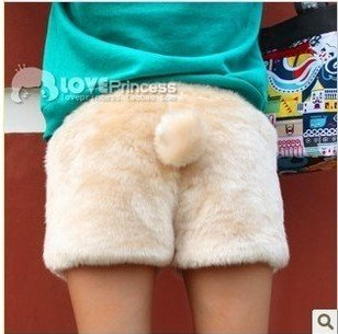 women shorts Womens 2012 new autumn and winter rabbit cute tails Plush small fashionable lady pants