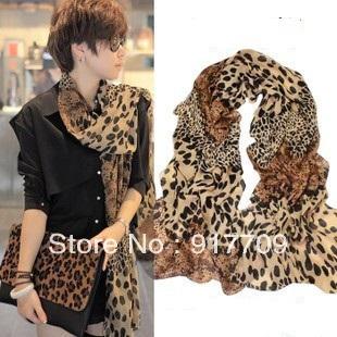 WOMEN top quality LEOPARD LONG SCARF/scarves 160CM*70 CM