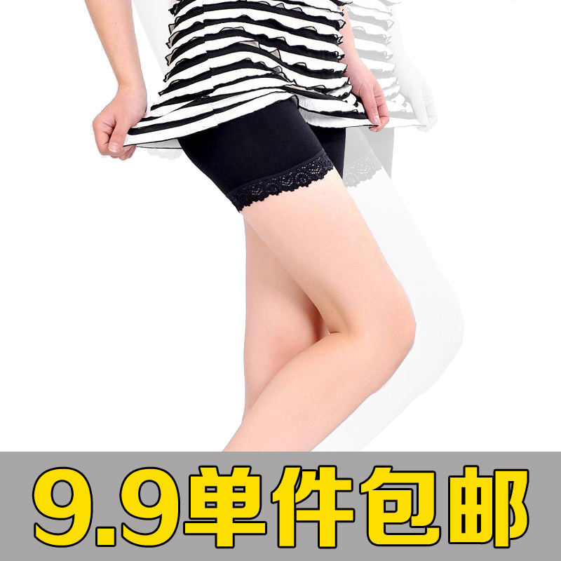 women viscose swimming cloth shorts modal safety pants lace shorts legging