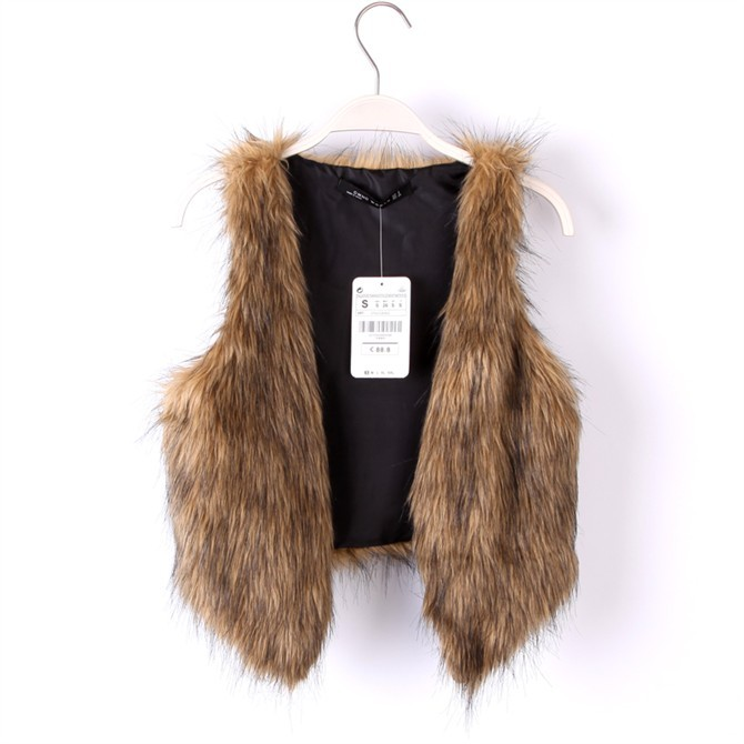 Womens faux  fur vest for freeshipping