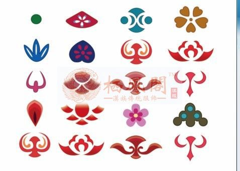 Xifeng Court Han Chinese clothing costume flower-tin forehead flower tin paste flower-tin flower-tin paste married bride headdre