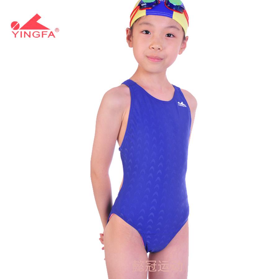 Ying fat child swimwear girls one-piece swimsuit female child young girl swimwear 921 trigonometric