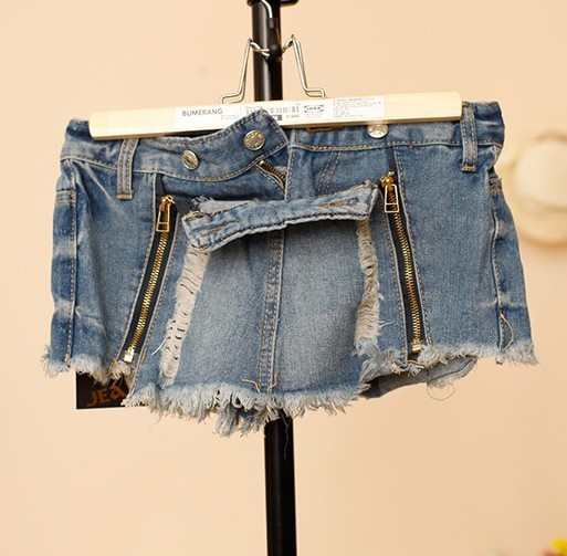 2013 free shipping spring new woman hole sexy denim shorts skirt detachable tight jeans