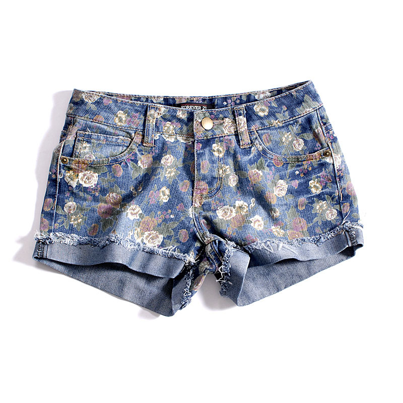 2013 new women's lovely's print lace denim casual shorts fashion restore ancient ways jeans free shipping 1031