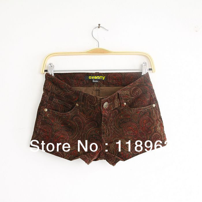 2013 summer new fashion cotton sexy hot Shorts plaid casual denim short pants free shipping