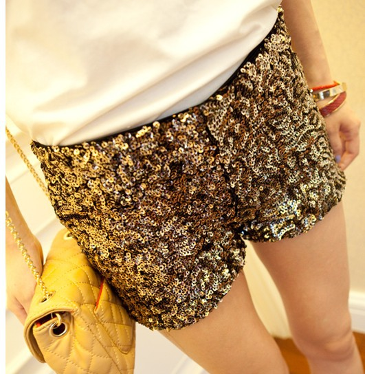 Free Shopping  Fashion casual sequins shorts TB 2903